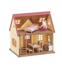 Sylvanian Families - Cozy Cottage begynderhus med møbler (5242)