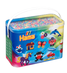 HAMA Perler - Midi -  30.000 perler i bøtte - Pastel Mix