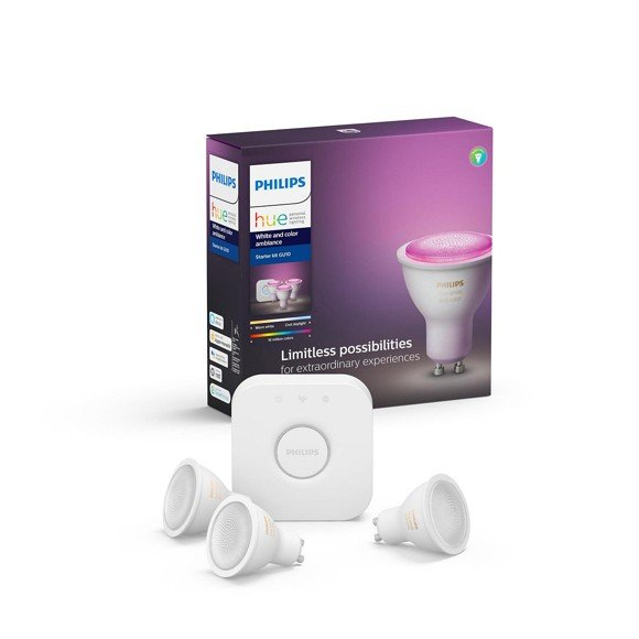 Philips Hue - GU10 Starter kit - White & Color Ambiance - Bluetooth