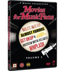 Straight Outta Compton, Whiplash, Almost Famous,Miles Ahead and Get On Up: The James Brown Story - DVD