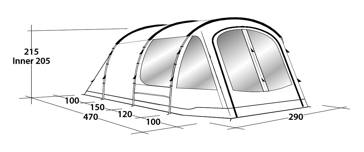 Koop Outwell Nevada 4P Tent 4 Person (111060) incl