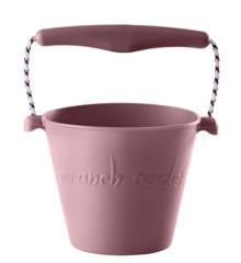 Scrunch Bucket - Blød spand til stranden - Lys rosa