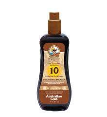 Australian Gold - Solcreme Spray Gel m. Instant Bronzer 237 ml - SPF 10