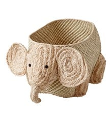 Rice - Vævet Opbevarings dyr - Elefant