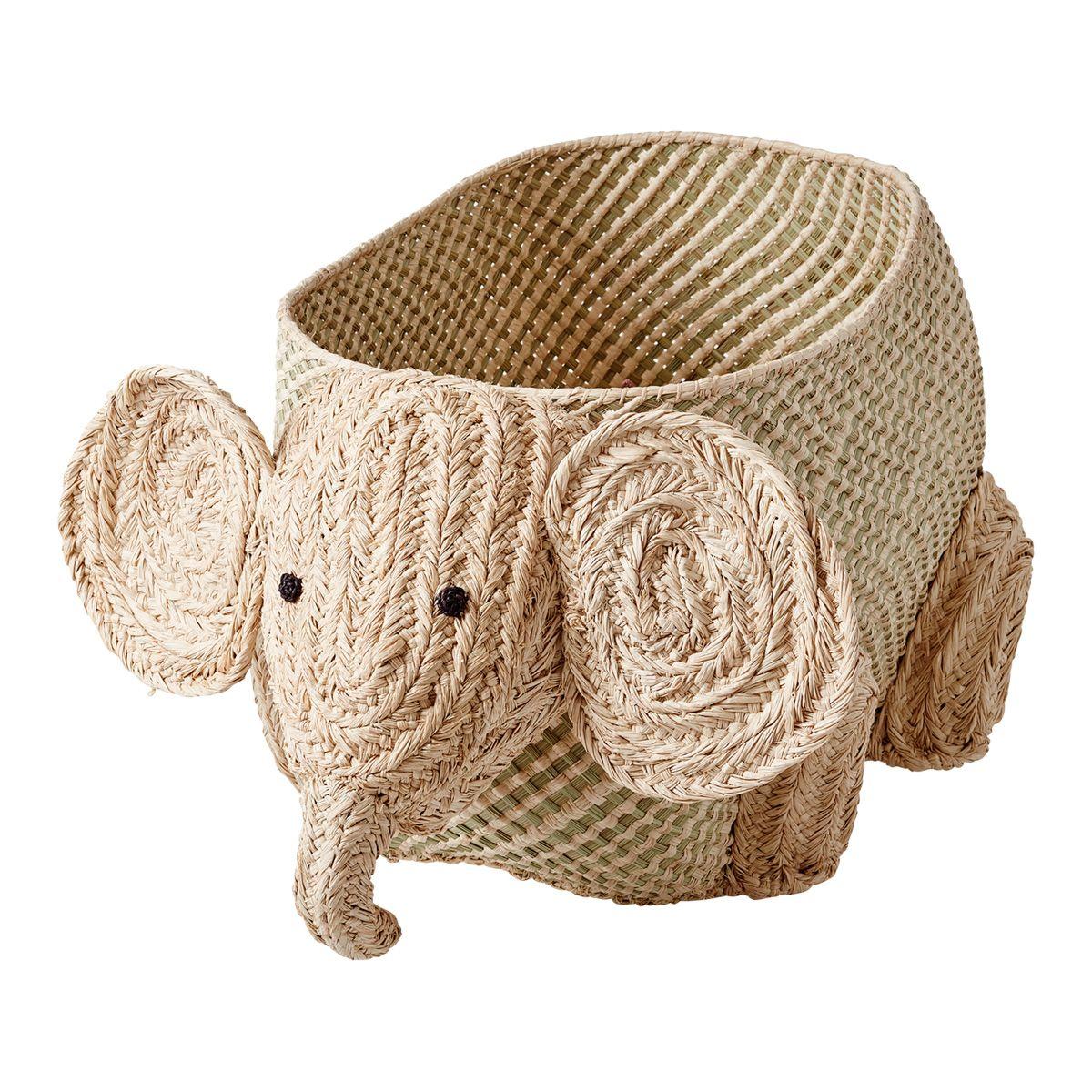 Rice - Woven Storage Animal - Elephant