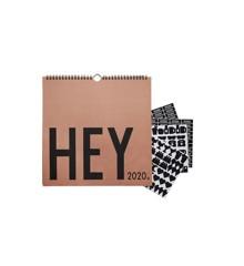 Design Letters - Hey Wall Calendar 2020 - Camel (70201014camel)