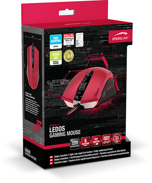 Speedlink Ledos Gaming Mouse (Red)