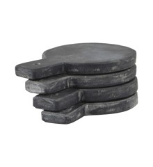 Nicolas Vahé - Plate Set Of 4 - Black (NVZSG011)