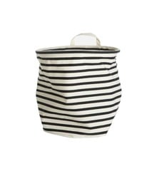 House Doctor - Storage Bag Stripes Medium - Black/White (Ls0350)
