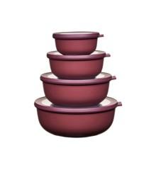 Rosti Mepal - Cirqula Low Bowl Set Of 4 - Nordic Berry (233106)