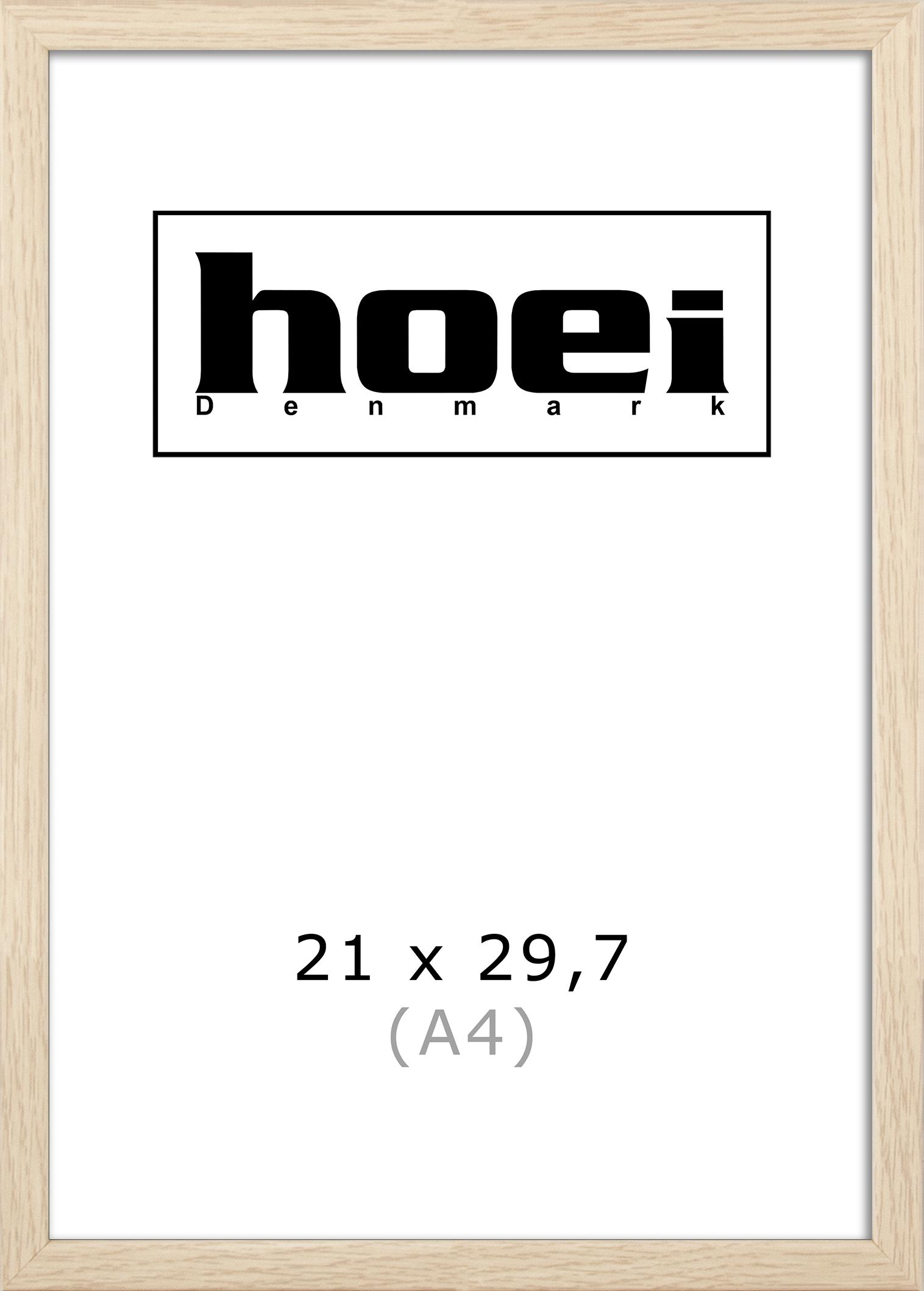 Hoei Denmark - Hoei 114 Frame Glass 21 x 29,7 cm - Oak Look (8011400210029)