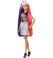 Barbie - Regnbue Glitter Hårs Dukke (FXN96)