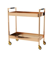 Rice - Side Table w. Mirror Shelves - Rosegold