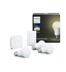 Philips Hue - White 3xE27 Pærer + Switch Starter Kit