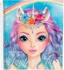 Top Model - Fantasy Malebog med ansigter (045298 )