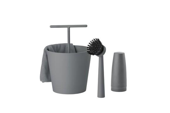 Zone - Bucket Dishwashing Set - Cool Grey (330743)