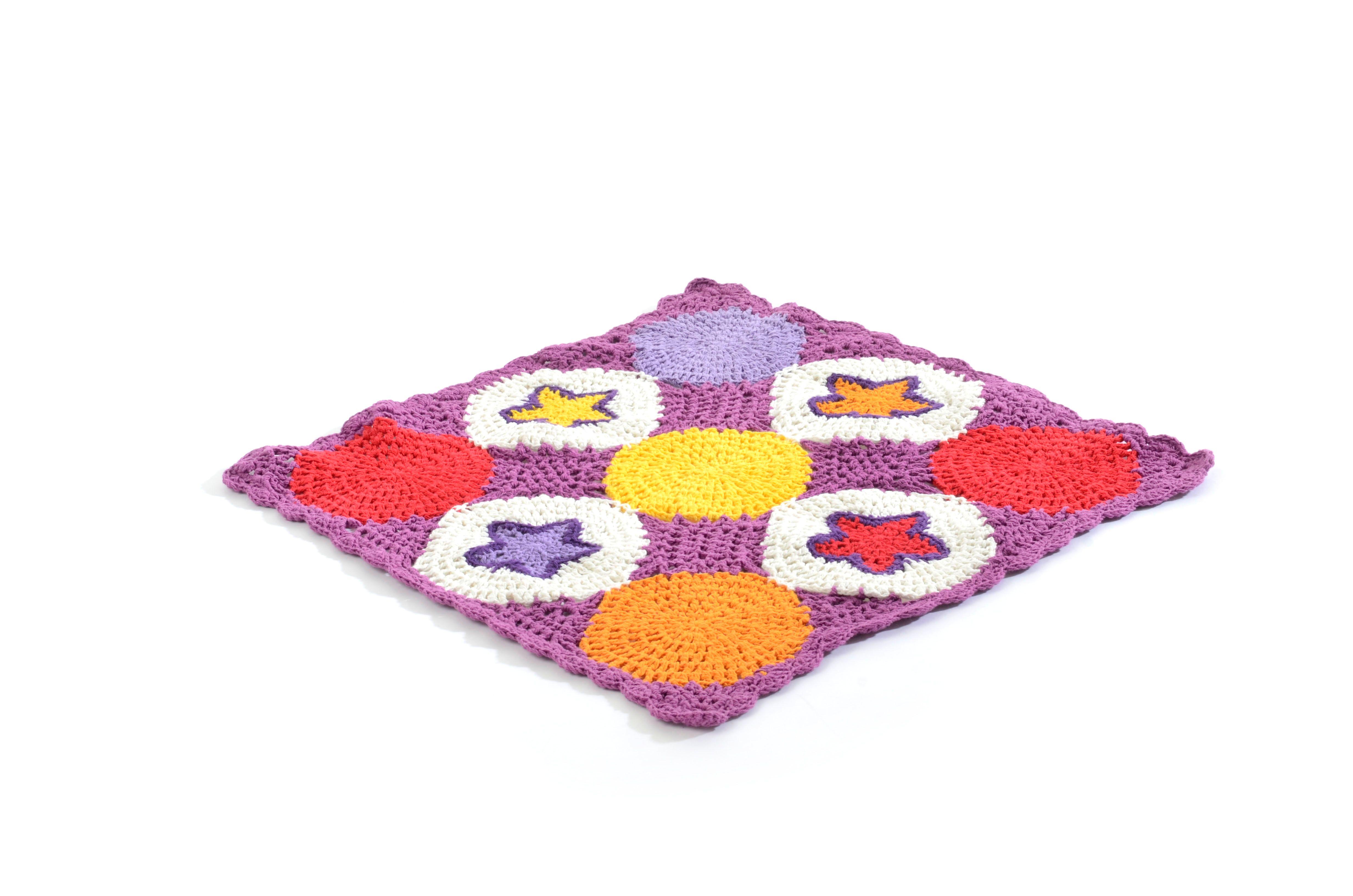 Smallstuff - Knitted Doll Blanket - Syren