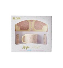 Rice - Melamine Dinner Baby Set in Giftbox - Rainbow Print