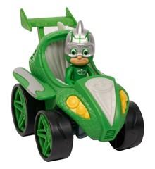 PJ Masks - Speed Boosters Køretøj - Power Racer Gekko (10-95230PWG)