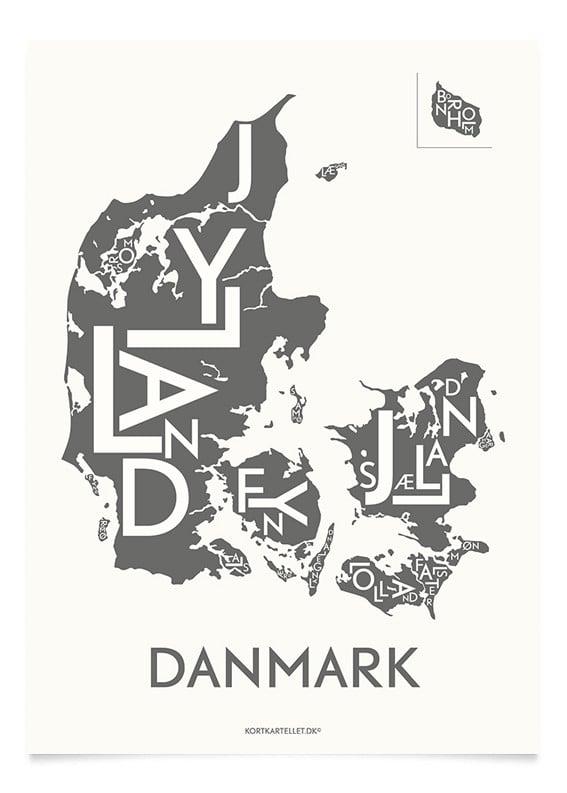 Buy Kortkartellet Danmark Poster 50 X 70 Cm Anthracite Coal