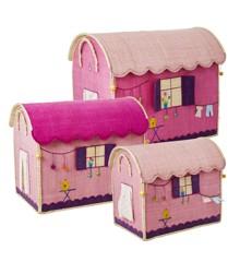Rice - Large Set of 3 Toy Baskets - Caravan Theme