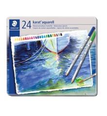 Staedtler - Karat aquarell farveblyanter, 24 stk