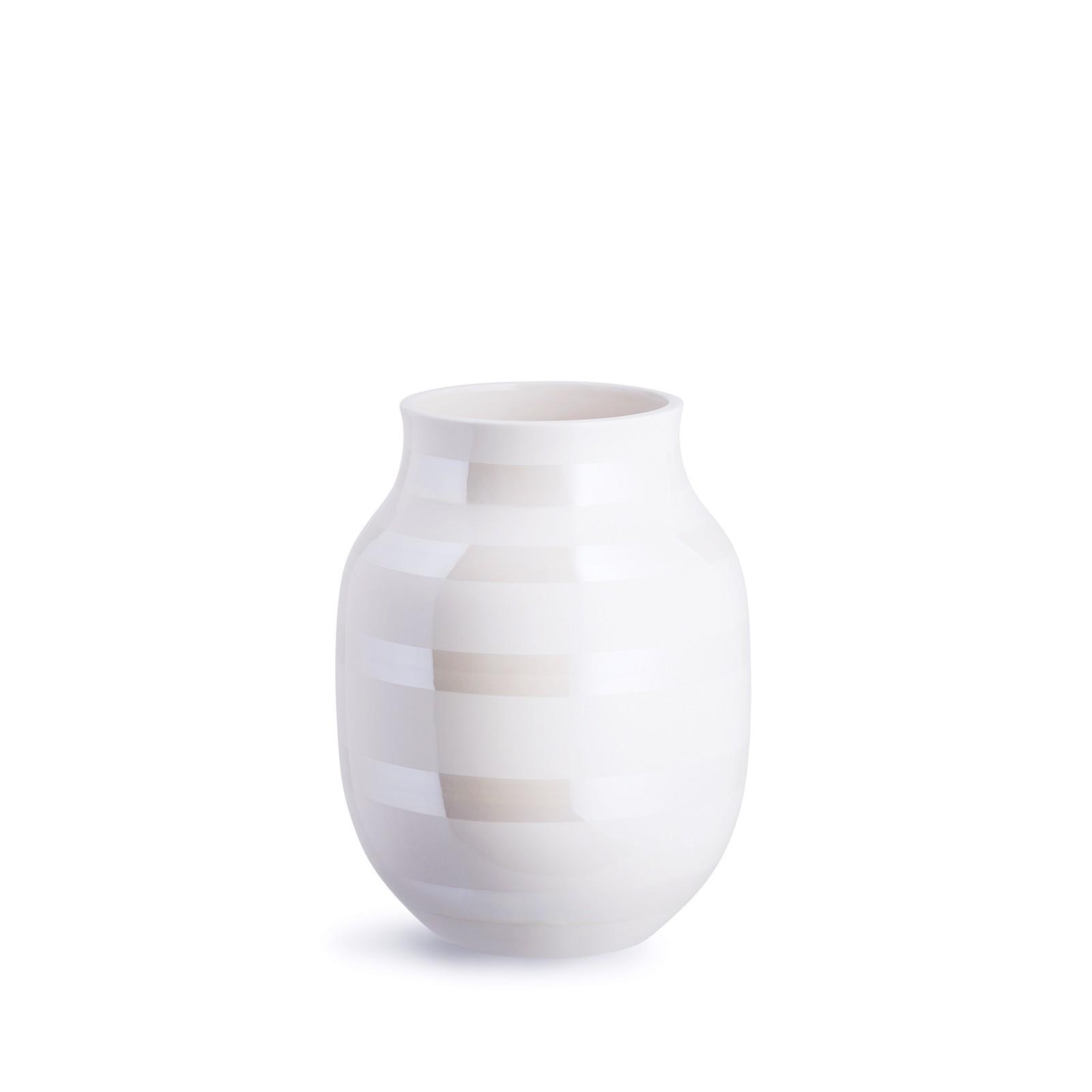 Kähler - Omaggio Vase Medium - Pearl (691781)