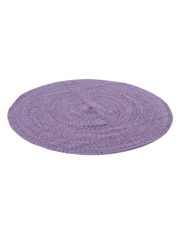 Smallstuff - Carpet Round dia. 120 cm -  Aubergine/ Blue Rose