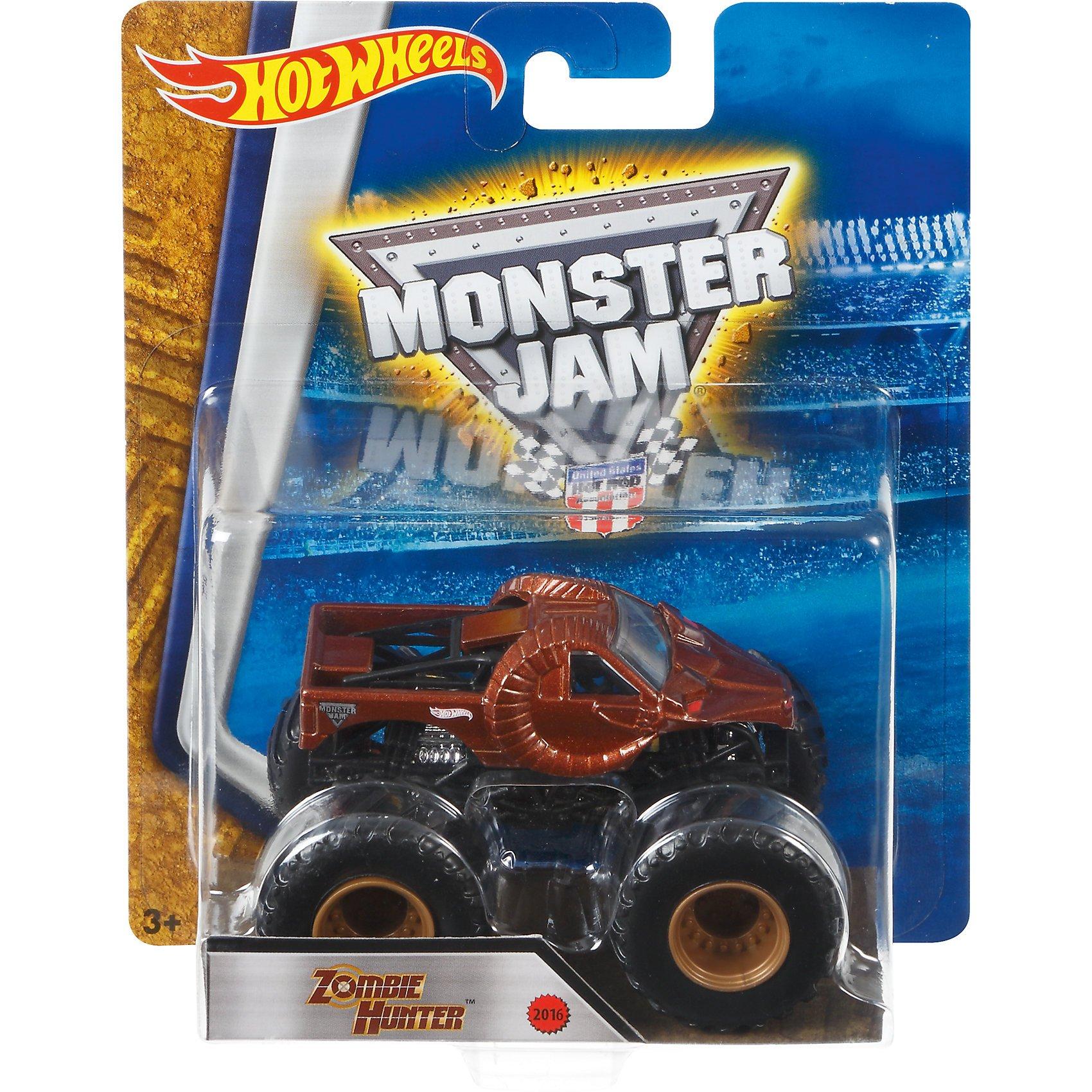 Buy Hot Wheels Monster Jam Truck 1 64 Zombie Hunter