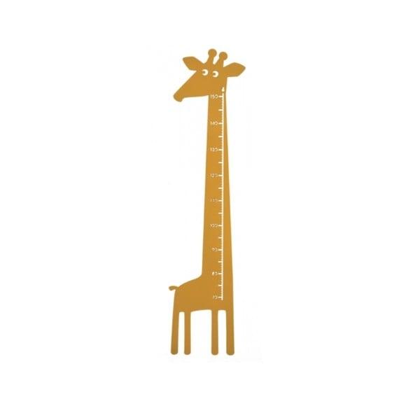 Roommate - Giraf Højdemåler 115 x 28 cm - Lys Gul
