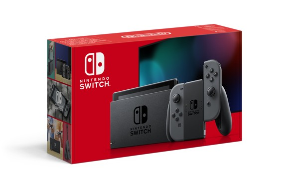 Nintendo Switch Console with Grey Joy-Con (Upgraded Version)