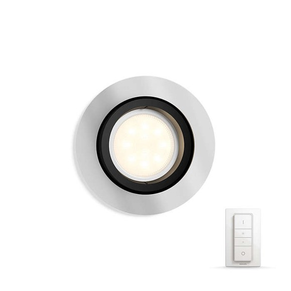 Philips Hue - Milliskin Recessed Spot Light Remote Included Aluminium