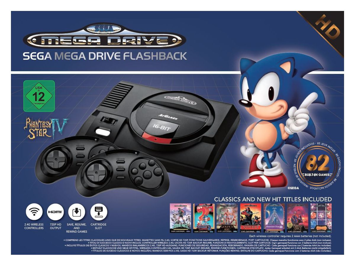 Buy Sega Mega Drive Flashback HD with Wireless Controllers ...
