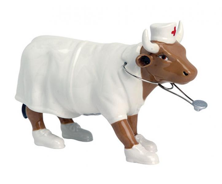 CowParade - Kuhfigur (Nurse Nightencow) - Mittelgroß