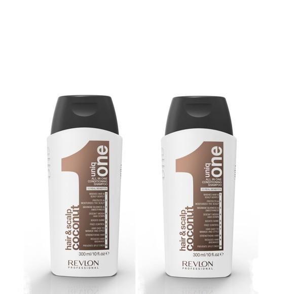 Uniq One - 2x All in One COCONUT Conditioning Shampoo 300 ml