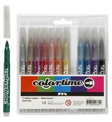 Colortime - Stiften 4,2 mm - Glitter - 12 stuks