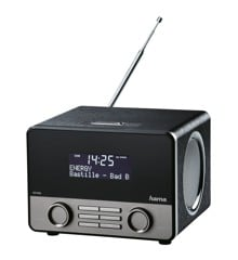 HAMA DAB+ Radio Bluetooth Sort Sølv