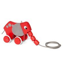 BRIO - Rød træk elefant (30186)