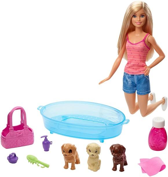 Barbie - Badetid for hundehvalp (GDJ37)
