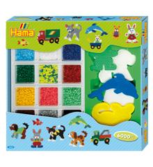 HAMA Beads - Midi - Giant open gift box - Blue (3064)
