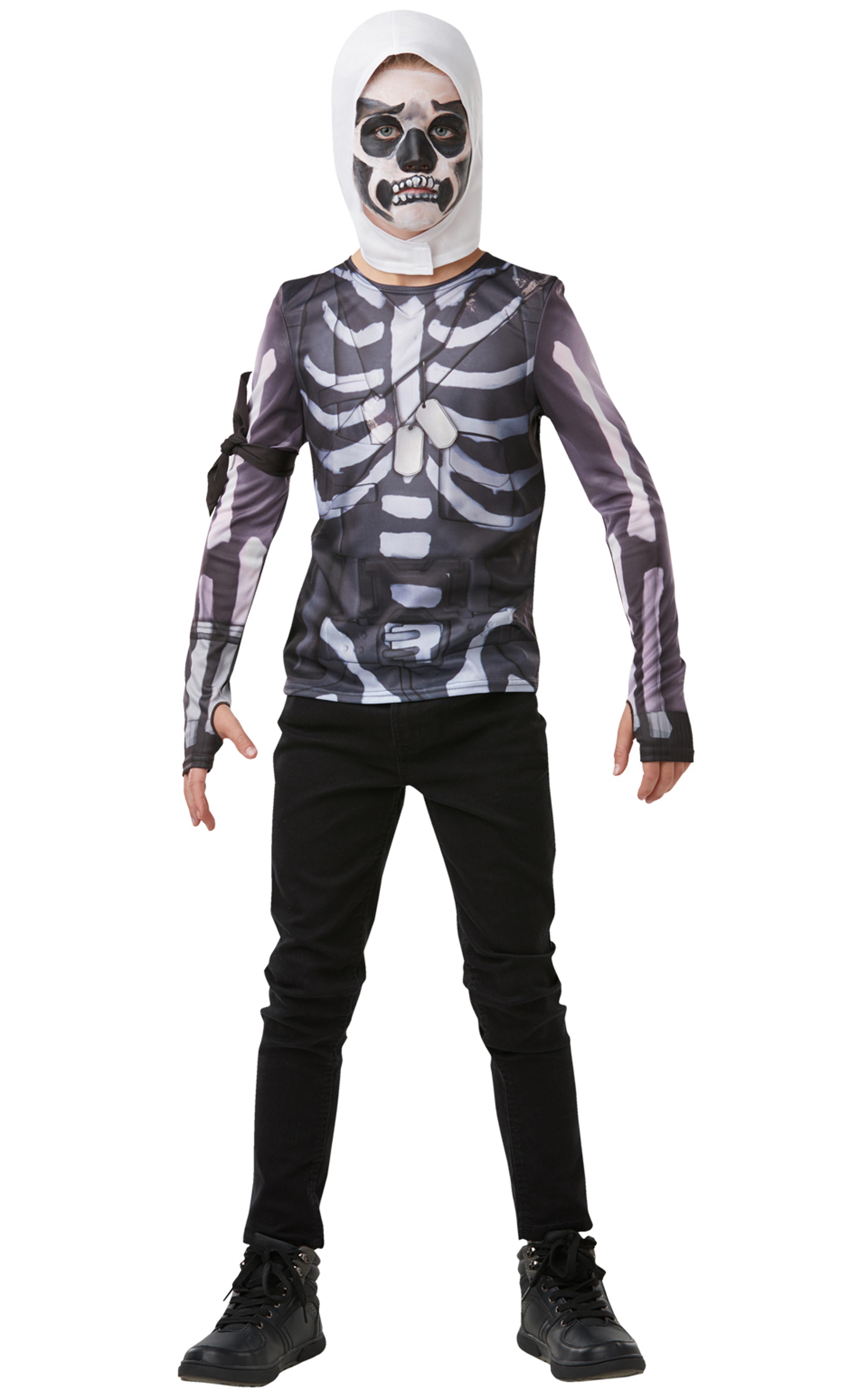 Fortnite - Skull Trooper - Size 9-10 years (R-300208)