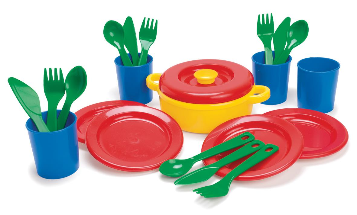 Dantoy - Dinner set in net (4381)