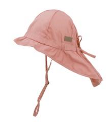 Melton - Hat w/Neck & Bow UPF30+ - Salmon rose (510001-616)