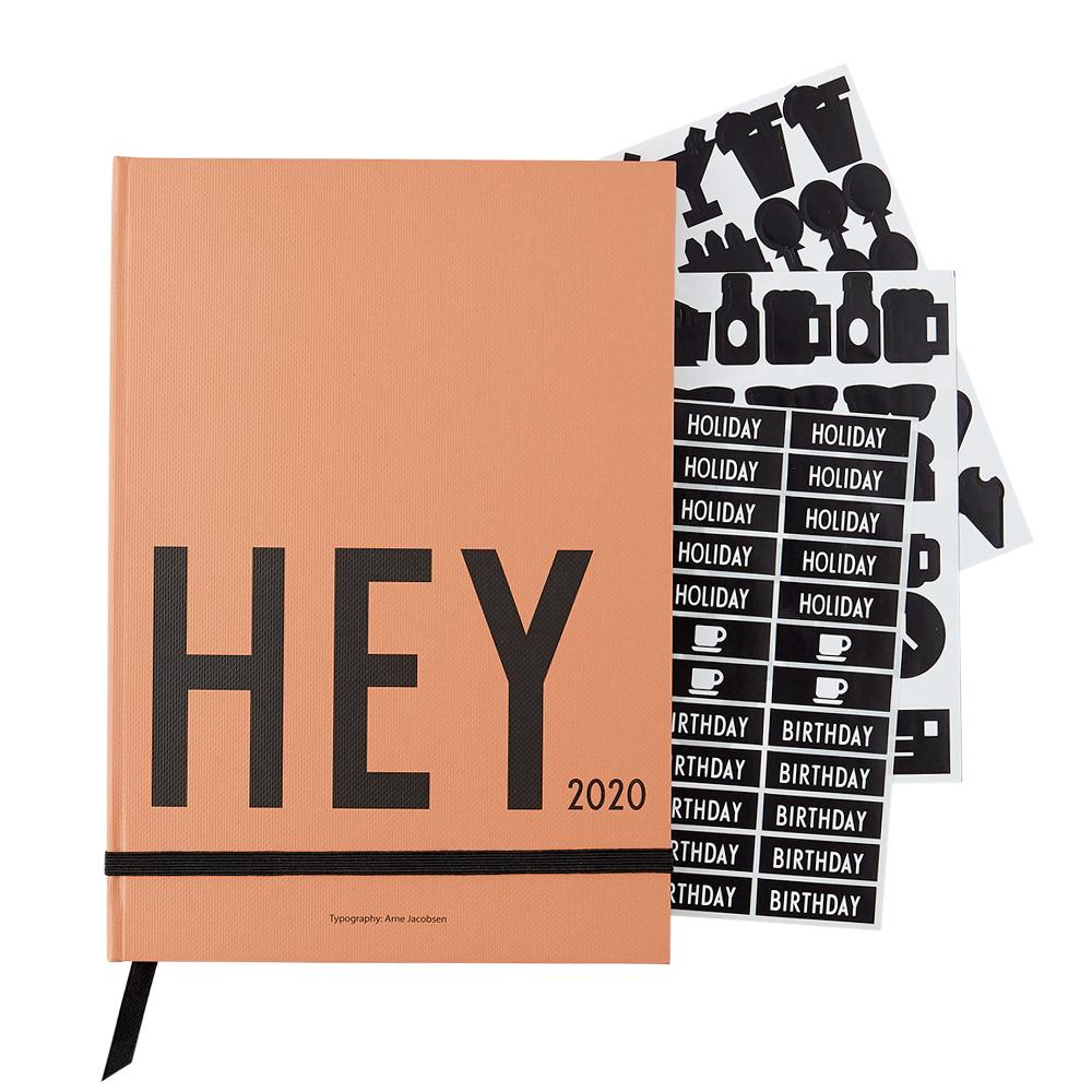 Design Letters - Hey Book Calendar 2020 - Camel (70201015camel)