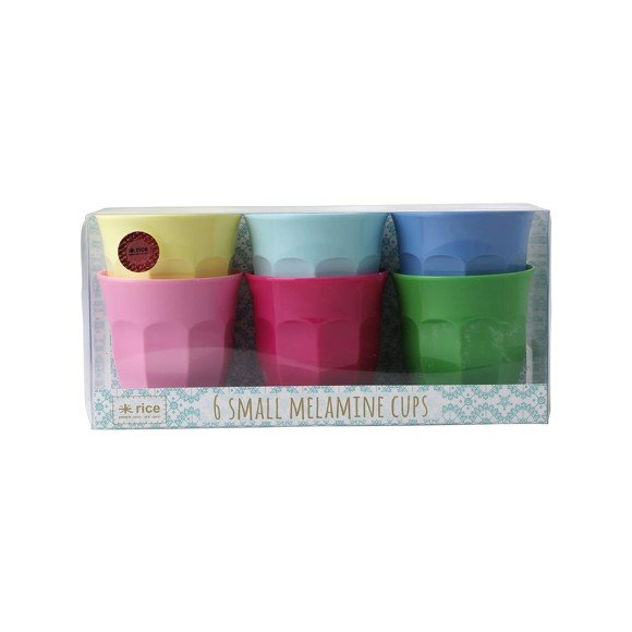 Rice - Melamine Cups 6 Pcs Small - Classic Colors