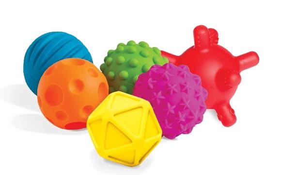 Edushape - Mini Sensory Balls 6 pack (862126)