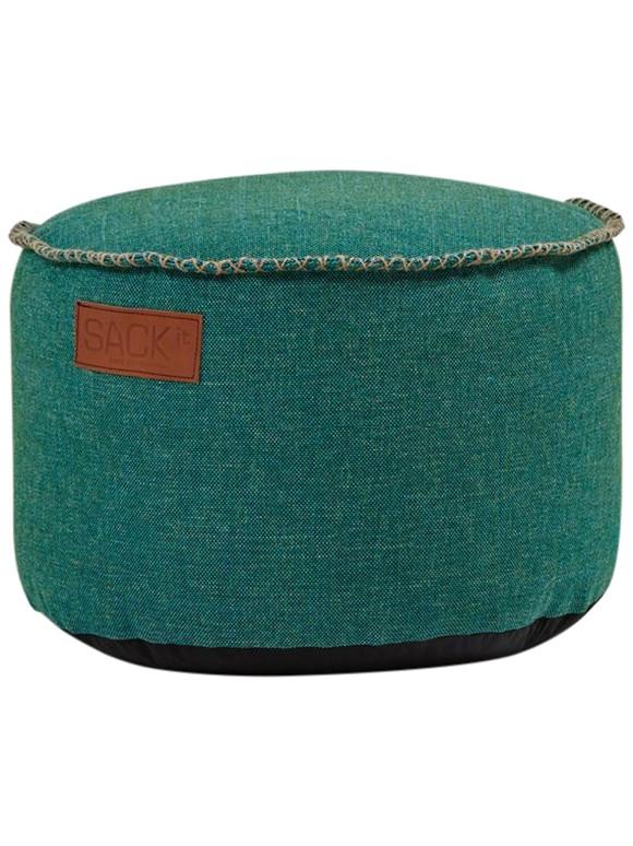 SACKit - RETROit Cobana Drum Puf - Petrol Melange (Kan bruges udendørs)