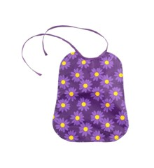 Smallstuff - Eating Bib Large - Purple Daisy (26000-4)
