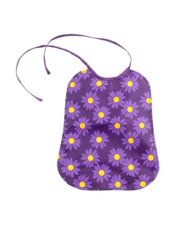 Smallstuff - Eating Bib Large - Purple Daisy (26000-4)