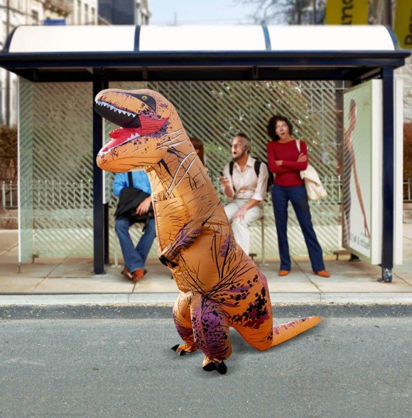 Self-Inflatable Dinosaur Costume